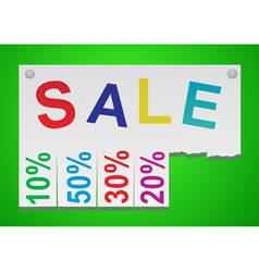 Word sale in the form of stickers vector