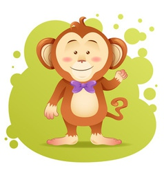 Cute cartoon monkey toy card vector