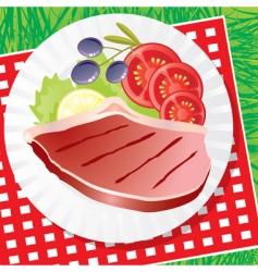 Picnic food vector