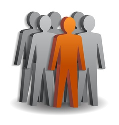 Team leader company boss teamwork vector