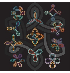 Celtic decorative elements vector
