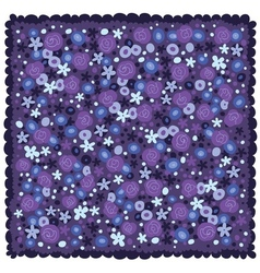 Violet blue flowers background vector