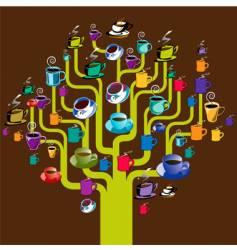 Coffee tree vector