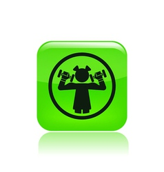 Gym girl icon vector