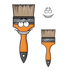 Cartoon paintbrush with a wide happy smile vector