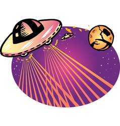 Alien spaceship vector