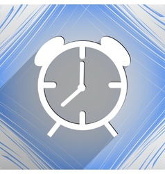 Alarm clock icon symbol flat modern web design vector