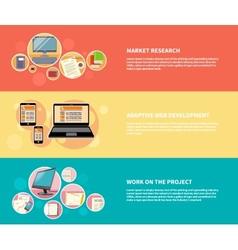 Market research adaptive development vector