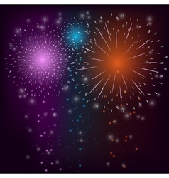 Firework colorful background vector