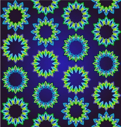 Geometric floral ornamental pattern vector