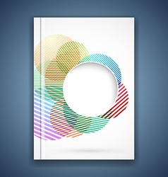 Bright colorful circle notebook cover template vector
