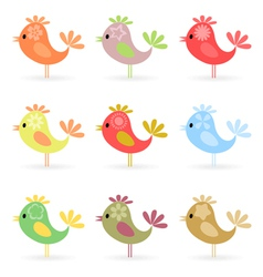 Cheerful birdies vector