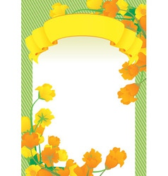 Yellow scroll frame vector
