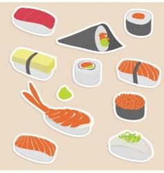 Sushi set vector