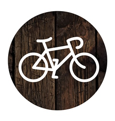 Bike on wooden board vector
