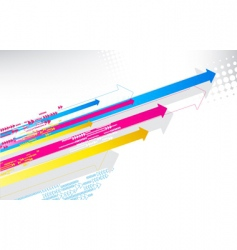 Color arrows vector