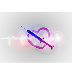 Medical symbol injection with heart vector