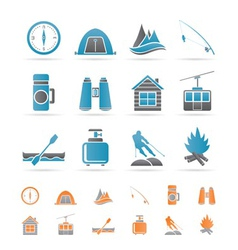 Travel and vacation objects vector