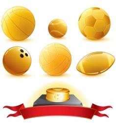 Golden trophies vector