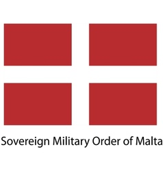 Flag the country sovereing military order of malta vector