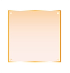 Sticker orange glass isolated object vector