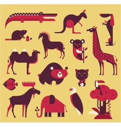 Animals set vector