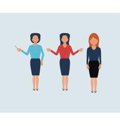 Set of businesswomen vector