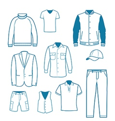 Mens fashion and clothing vector