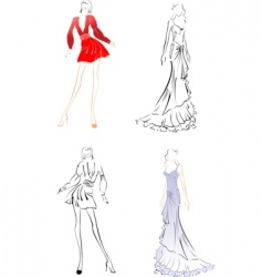 Fashion sketches vector