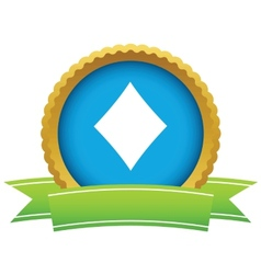 Gold diamonds card logo vector