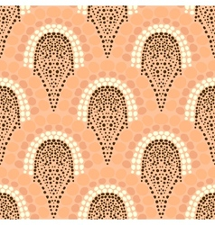 Geometric pattern in art deco style in soft colors vector