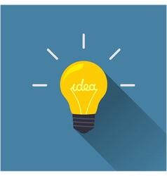 Creative idea in light bulb shape vector