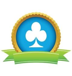 Gold card logo vector