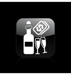 Champagne cost icon vector