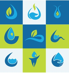 Water signs vector