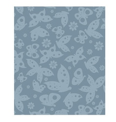 Texture fashion print butterfly blue vector