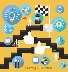 Student success learning education concept vector