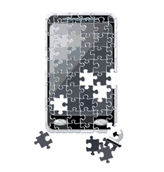 Puzzle smart phone broken vector