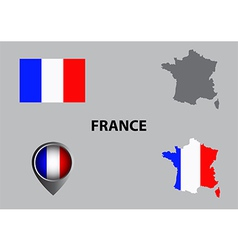 Map of france and symbol vector