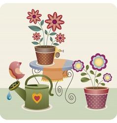 Garden utensils vector