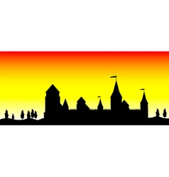 Silhouette of the castle vector