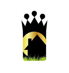 Logo for home renovation or real estate business vector
