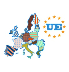 Abstract map of european union vector