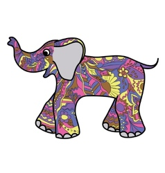 Colorful elephant vector