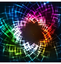 Abstract colorful neon grid background vector