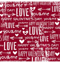 Red background with valentine heart and wishes tex vector