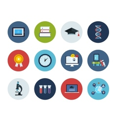 Education and science icons vector