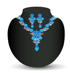 Womans necklace with precious vector