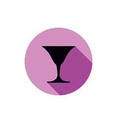 Classic full martini glass alcohol and vector