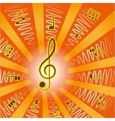 Musictreble clef and notes for your design vector